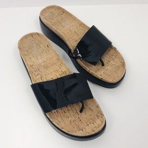 Donald J. Pliner | Black Fifi 14 Cork Flat Sandals